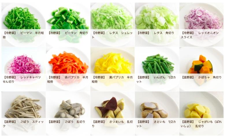 イエコックのカット野菜種類3